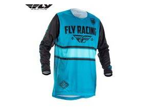 FLY RACING Kinetic Long Sleeve Jersey in Blue-Black