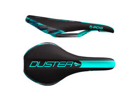 SDG COMPONENTS Duster Mtn P Cro-Mo Rail Saddle Black/Teal Camo