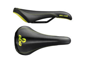 SDG COMPONENTS Bel Air Steel Rail Saddle Black/Yellow