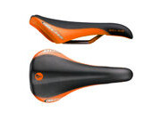 SDG COMPONENTS Bel Air Ti-Alloy Rail Saddle Black/Orange