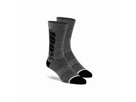 100% RHYTHM Merino Wool Performance Socks Charcoal
