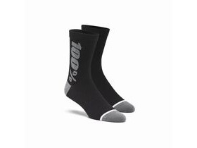 100% RHYTHM Merino Wool Performance Socks Black / Grey