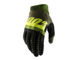 100% Ridefit Glove 2019 Army Green / Fluo Lime / Fatigue
