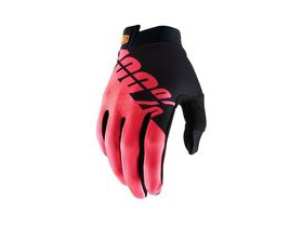 100% iTrack Glove 2019 Black / Fluo Red