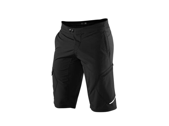 100% Ridecamp Shorts Black click to zoom image