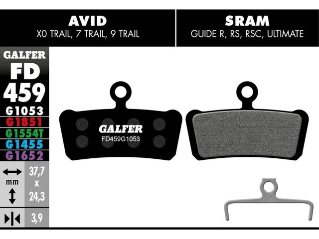GALFER Sram Guide R Standard Disc Brake Pads (black) FD459G1053 click to zoom image