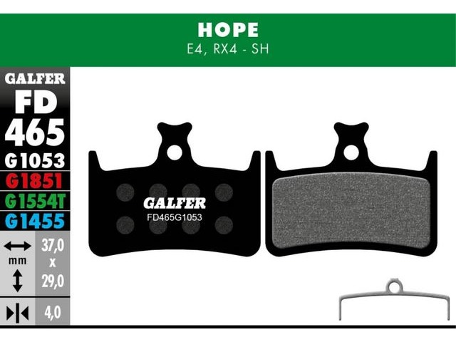 GALFER Pro Competition Hope Tech 3 E4 Pads (green) click to zoom image