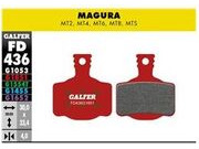 GALFER Magura MTS MT8 Wet Weather Disc Brake Pads (red) FD436G1851