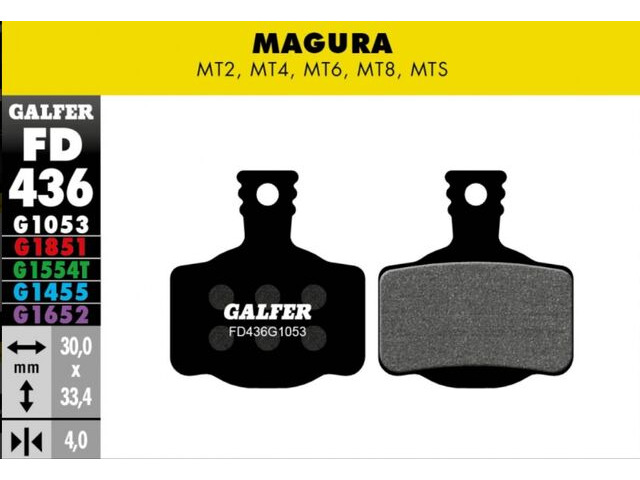 GALFER Magura MTS MT8 Standard Disc Brake Pads (black) click to zoom image