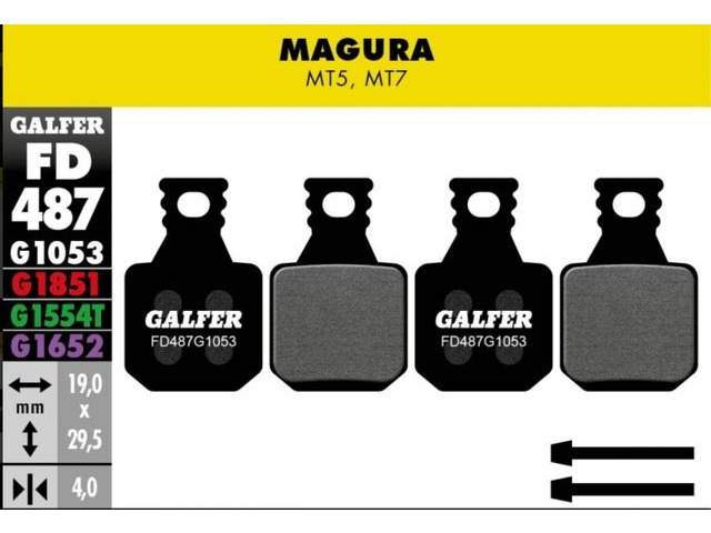 GALFER Magura MT5 MT7 Wet Weather Disc Brake Pads (red) click to zoom image