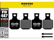 GALFER Magura MT5 MT7 Wet Weather Disc Brake Pads (red)