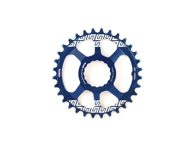 UNITE COMPONENTS Grip Ring Direct Mount Race Face Cinch in Blue click to zoom image