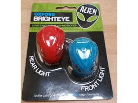 OXFORD Brighteye Alien LED front and rear lightset blue and red