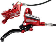 HOPE Tech3 E4 Standard Hose brakes Floating Rotors and Mounts Front and Rear Red