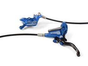 HOPE Tech3 E4 Standard Hose brakes Fixed Rotors and Mounts Front and Rear in Blue