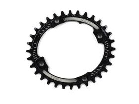 HOPE Oval Narrow wide Chain ring 104BCD in black