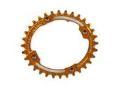 HOPE Oval Narrow wide Chain ring 104BCD in orange
