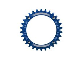 HOPE Narrow Wide Chainring 104 BCD in Blue