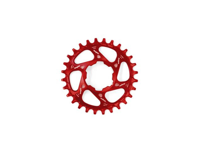 HOPE Direct Mount Chainring in Red Boost. click to zoom image
