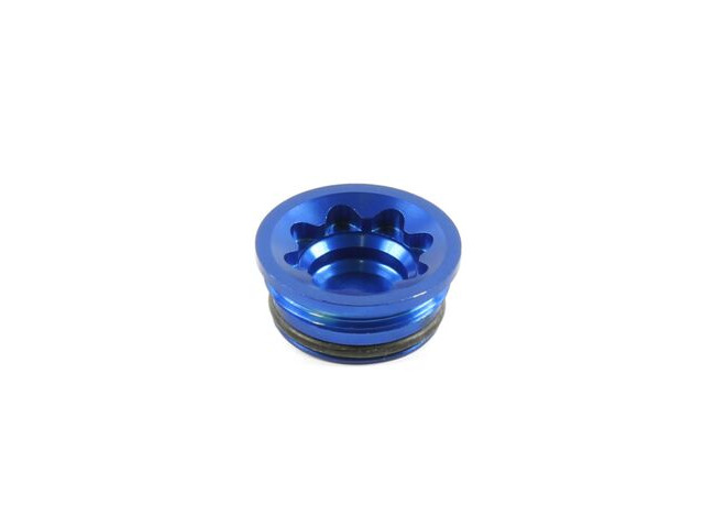 HOPE E4 Bore Cap in Blue click to zoom image