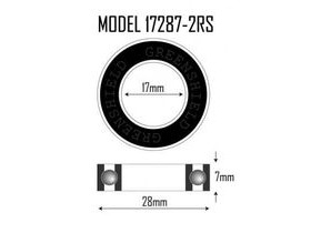 RUSH 17287 2RS Sealed Cartridge Bearing